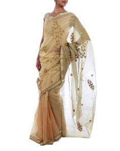 Chanderi Silk-Cotton Saree by Julie Kagti