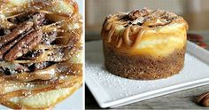 Mini Baked Pecan-Caramel Cheesecakes | 43 Gorgeous Desserts That Will Win Your Thanksgiving