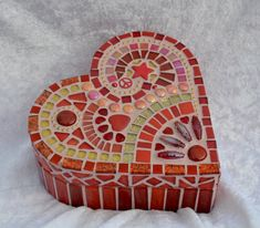 Hey, I found this really awesome Etsy listing at https://www.etsy.com/listing/251865197/beautiful-red-glass-mosaic-heart-shaped