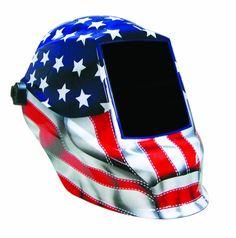 Sellstrom Old Glory/American Flag Blue/Red/White Auto Darkening Welding Helmet