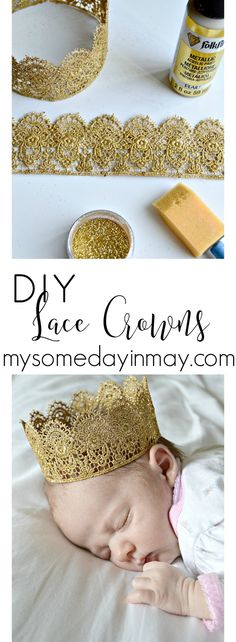 DIY Lace Crowns 2019 easy DIY princess crowns The post DIY Lace Crowns 2019 appeared first on Lace Diy. Princess Birthday, Girl Birthday, Birthday Crowns, Princess Party, Disney Princess, Couronne Diy, Diy And Crafts, Crafts For Kids, Lace Crowns