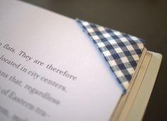 Blue vichy bookmark #sewing #blue #vichy #karo #bookmark #lesezeichen