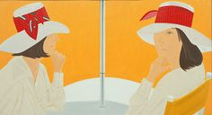 Alex Katz - The Red Band 1975 Oil on canvas