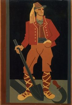 """Fortunato Depero 1937-38 """"Figura Campestre"""""""
