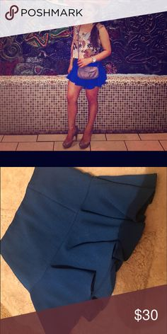 Armany exchange skirt use once Use once 00 but can fit small too A/X Armani Exchange Skirts Mini