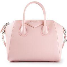 GIVENCHY small 'Antigona' tote (106.865 RUB) ❤ liked on Polyvore featuring bags, handbags, tote bags, purses, bolsas, accessories, handbags totes, pink tote, tote hand bags and tote purses