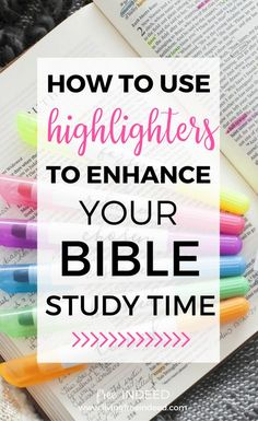 I use a highlighting system to keep track of key verses. In this way I'm creating a quick reference index across my Bible. | Bible Study Tools | Highlighting Your Bible | How To Find Good Bible Verses | Bible Study Tips for Women | How to Study the Old Testament | Color Code Your Bible | Find Gods Promises