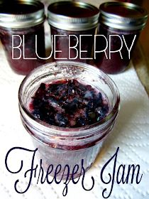 tales from a cottage: Blueberry Freezer Jam Blueberry Freezer Jam, Blueberry Jelly, Blueberry Bushes, Blueberry Recipes, Blueberry Lemon Jam, Freezer Jam Recipes, Jelly Recipes, Freezer Cooking, Canning Recipes