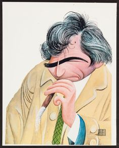 Peter Falk as Columbo by Al Hirschfeld (TV Guide, Color Art Funny Caricatures, Celebrity Caricatures, Detective, Peter Falk, Cartoon Faces, Cartoon Art, Old Shows, Crazy Colour, Black And White Portraits