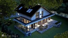 PROIECT CASĂ MICĂ CU MANSARDĂ | House Design Modern Exterior House Designs, A Frame Cabin, Villa Design, Design Case, House Front, Home Fashion, My Dream Home, Decoration, Home Goods