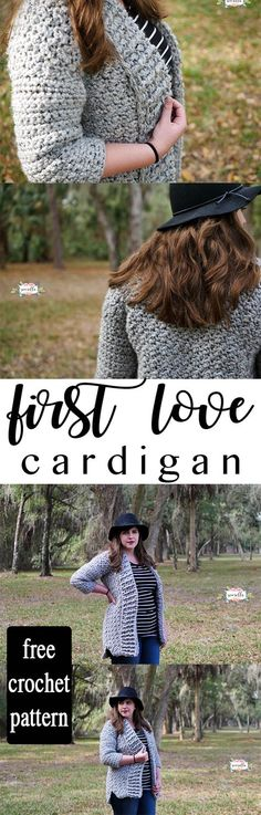 Crochet Clothes Make this easy, beginner friendly First Love Crochet Cardigan for these chilly winter months! It's thick, warm, and so easy to make Crochet Jacket, Crochet Cardigan, Crochet Scarves, Crochet Clothes, Crochet Sweaters, Cardigan Pattern, Jacket Pattern, Sweater Cardigan, Crochet Gratis