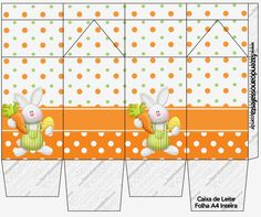 Easter in Orange: Free Printable Boxes. | Oh My Fiesta! in english