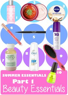 Summer 2013 Beauty Essentials | Products that you absolutely must have this summer!