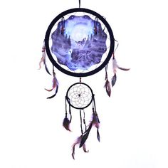 "13"" Dream Catcher - Howling Wolves"