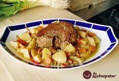 Jarrete o Xarrete a la gallega, receta típica de la cocina gallega y se suele preparar en guiso. Muy recurrente en cualquier comida festiva o de domingo.