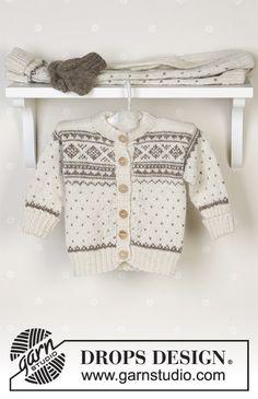 Baby Knitting Patterns Mittens Winter Snuggles / DROPS Baby – jacket, pants, hat, mittens and socks … Baby Knitting Patterns, Knitting For Kids, Baby Patterns, Free Knitting, Drops Design, Cardigan Bebe, Baby Cardigan, Snuggles, Drops Baby