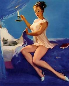 """""""Caught Napping"""" by Gil Elvgren 1954"""