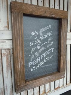 Framed chalk art prints/2 corinthians 12:9/perfect in weakness