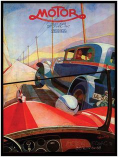 LIVELY Antique Car Print - Eye Contact - Jazz Age in Weimar Germany - Cloche Hat