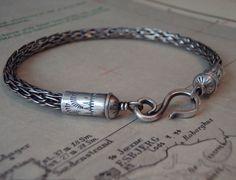 Nordic Bracelet Sterling Viking Knit Cuff by melissamanley on Etsy, $70.00