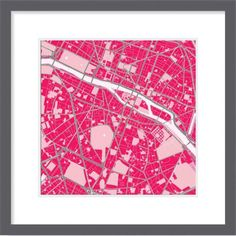 Map of Paris in strawberry mood.