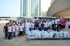 """Team Ocean View Hotel at the """"Clean-Up the World"""" event in November 2013 . We helped to collect 112 trash bags weighing 560 kilos in total. The clean-up took place on the beach in front of the JA Ocean View Hotel on #TheWalkJBR."""
