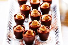 These tiramisu cups look amazing & are easy to make ahead.