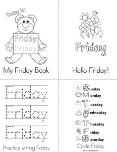 Practice writing the word Friday Coloring Page - Twisty ...