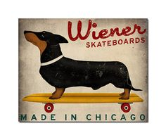 Again, two of my favorite things:  wiener dogs and Chicago (thought I was going to say skateboards? haha)