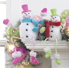 RAZ Posable Snowman Figurine Christmas Decoration