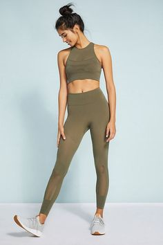 Free People Movement High-Rise Self-Hem Sculpt Mesh Leggings Fitness Style, Fitness Fashion, Fitness Photos, Fitness Tips, Mesh Leggings, Anytime Fitness, Intense Workout, Workout Outfits, Sporty Outfits