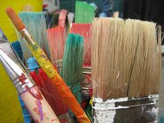 how to clean paintbrushes that have dried paint on them.