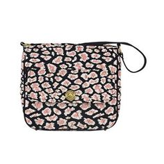 Amira City Shoulder by Bella Taylor Handbags. New for Spring 2015, the City Shoulder Bag has a large main compartment perfectly sized for a tablet, planner, or water bottle, and the external turn-lock pocket adds added security for smaller items such as cellphones, passport and keys. Amira's Caviar Black, Bright White and pops of Blush Pink add a feminine twist to the timeless leopard print. The inside has 2 slip and 1 zip pocket, the outside has 1 slip pocket with a flap and turn-lock…