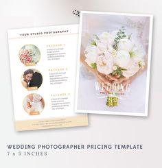 Wedding Photography Pricing Guide Templates Ideas For 2019 Wedding Photographer Prices, Wedding Photography Pricing, Photography Business, Photography Templates, Photography Packaging, Flyer, Wedding Designs, Wedding Ideas, Diy Wedding