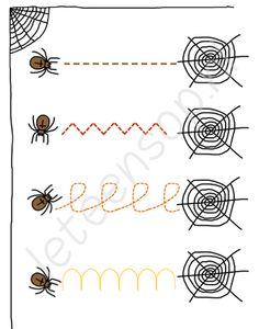 Volg de lijnen met je vinger - voorbereidende schrijfoefeningen - fijne motoriek