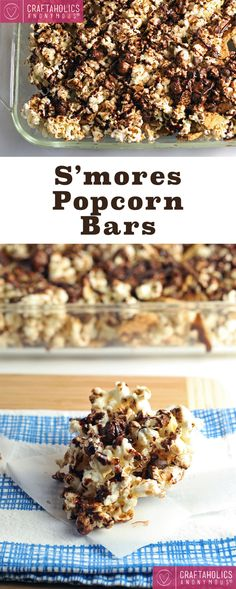 Combine two of your favorite summer snacks, popcorn and s'mores, for these easy and decadent S'mores Popcorn bars!