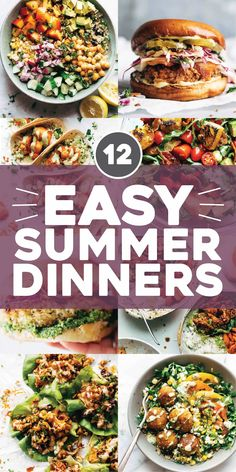 When it's summertime and the temperatures are rising and your calendar is exploding and you feel like you might just lose your mind, you need to keep it easy peasy when it comes to dinnertime. Here are some of our favorite easy summer dinners! Healthy Summer Recipes, Healthy Dinner Recipes, Cooking Recipes, Quick Easy Healthy Dinner, Dessert Recipes, Cooking Corn, Whole30 Recipes, Winter Recipes, Pasta Recipes