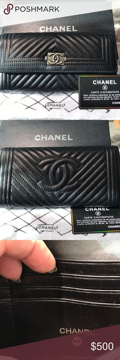 Chanel wallet Authentic Chanel black leather wallet, new , coms with box and dust bag CHANEL Bags Wallets