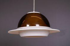 Acrylic pendant lamp by Hyval. Vintage Lighting, Pendant Lamp, Ceiling Lights, Home Decor, Decoration Home, Room Decor, Swag Light, Ceiling Lamps, Interior Design