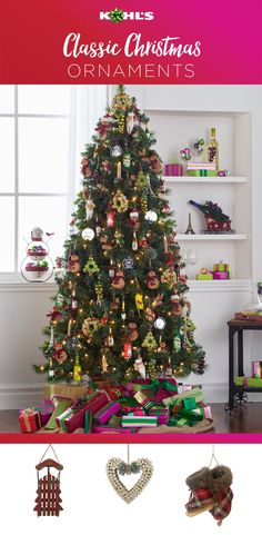 Decorating the tree is one of the most beloved traditions of the holiday season. Add to the memories this year with soon-to-be-favorite ornaments. Shop Christmas ornaments at Kohl's. #holiday #Christmas #homedecor