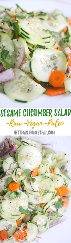 7 minutes is all you need to make this healthy salad! This recipe is perfect for meal prep because it tastes better as it marinates! Make it on Sunday and eat it all week.