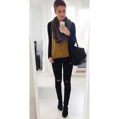 """OOTD #ootd #fashion #fashionblogger_de #style #youtuber #fall #autumn #herbst #jacke #hm #pulli #hm #jeans #zara #tasche #hm #schuhe #zalando #schal #esprit"" Photo taken by @jucepauline on Instagram, pinned via the InstaPin iOS App! http://www.instapinapp.com (09/24/2015)"
