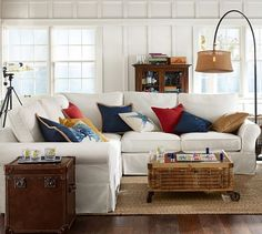 Hamptons style living room. Get the look for your home >