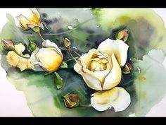 Yellow Roses in Watercolors Painting Tutorial - YouTube