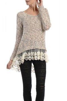 Whimsical Night Sweater Tunic-Sand – Sweet N Sassy Us This color ...