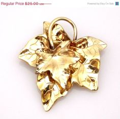 On Sale Vintage Carl Art Layered Ivy Leaf Brooch by TheFashionDen