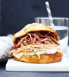 Liquorice Pulled Pork Burger
