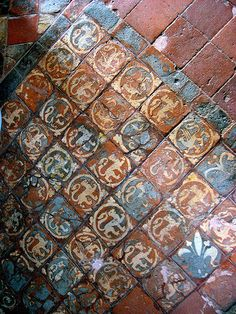 Medieval Floor Tiles, Probably 13th Century, Winchester Cathedral, Winchester, England, April 2009 | Flickr - Photo Sharing!