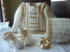 LAS CHAQUETITAS DE ITXASO: Chaquetitas de angora y perlé Silk Ribbon Embroidery, Baby Dress, Diy Crafts, Knitting, Children, Celebrities, Lace, Sweaters, Women