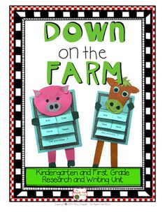 Farm Unit - Kindergarten Grade Research, Writing, ELA Teaching Writing, Writing Activities, Writing Ideas, Teaching Ideas, Teacher Resources, Classroom Resources, Writing Posters, Farm Unit, Informational Writing